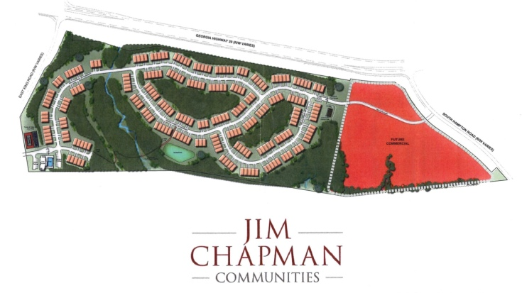 Concept site plan for Jim Chapman active adult community in Hampton (applicant photo)