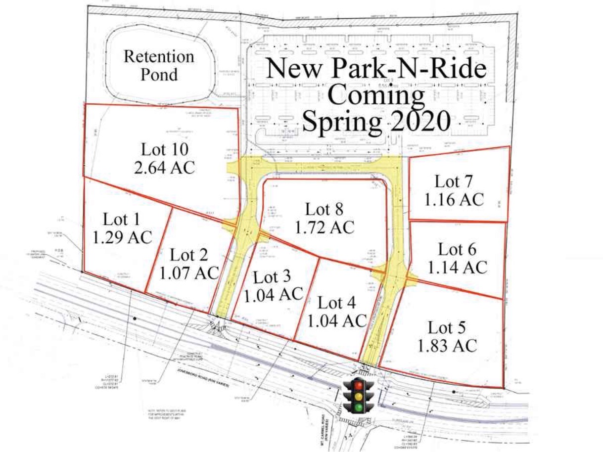 Concept site plan for Jonesboro Road at Mt Carmel Road park and ride lot (real estate photo)