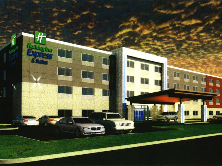 Proposed front elevation for new Holiday Inn Express on Country Club Drive (YM Hospitality photo)