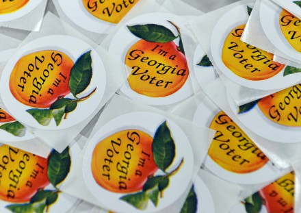 "Photo of Georgia ""I voted"" stickers"