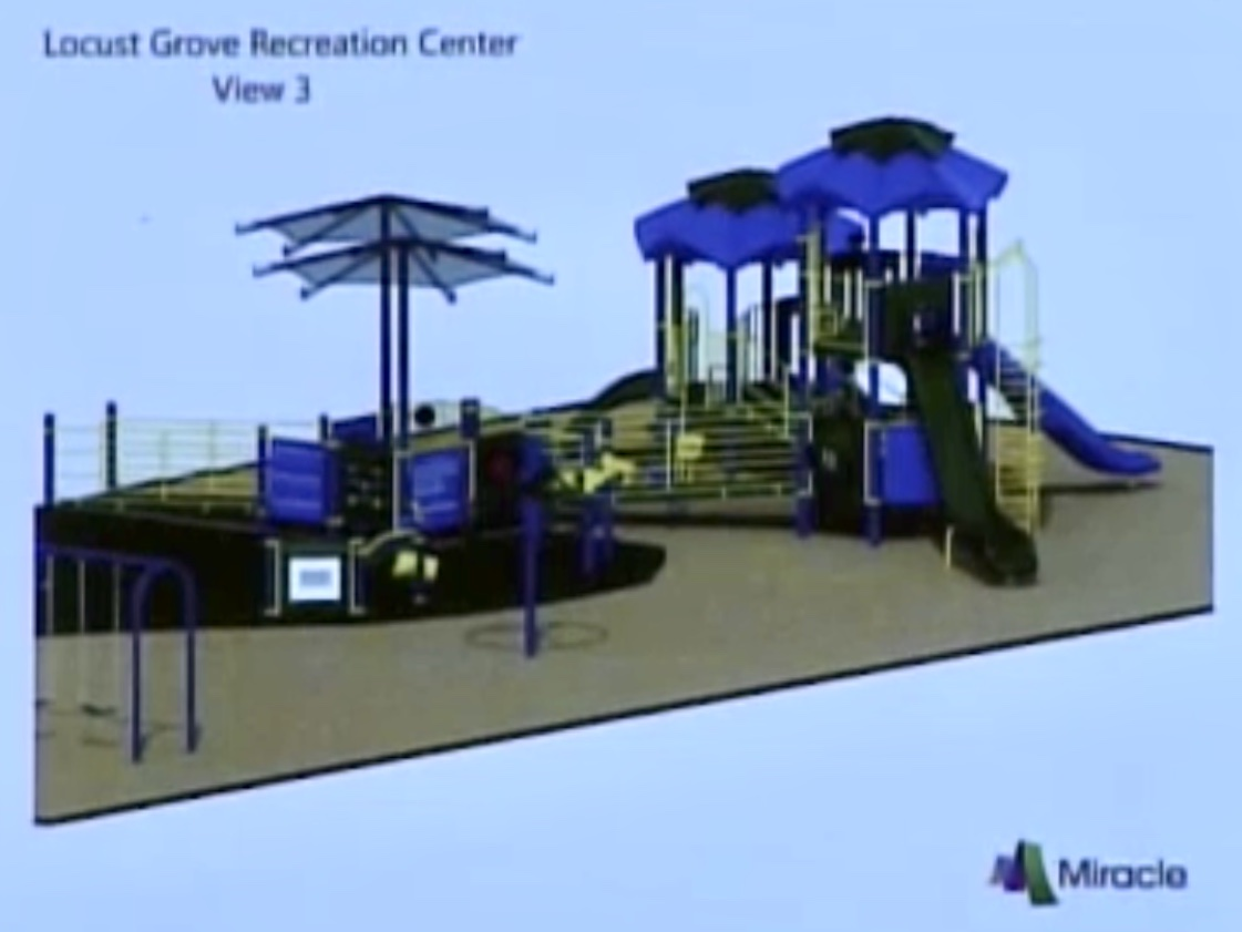 Photo of new playground to be installed at the Locust Grove Recreation Center (Henry County photo)