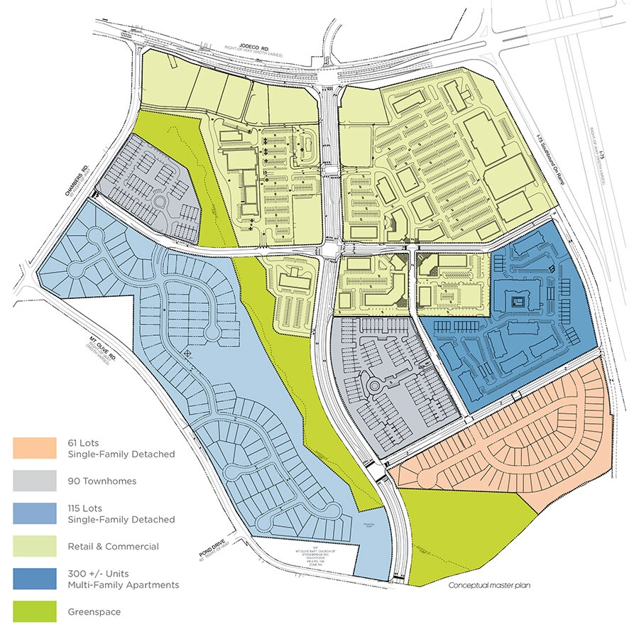 Site plan for Bridges at Jodeco development