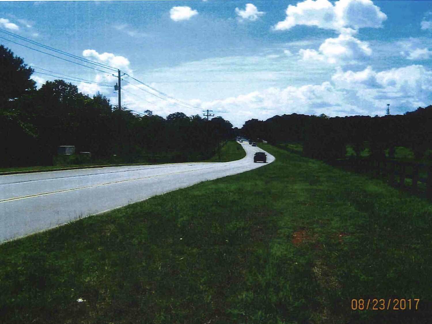 Photo along Jonesboro Road at McCullough Road in 2017 (Henry County photo)