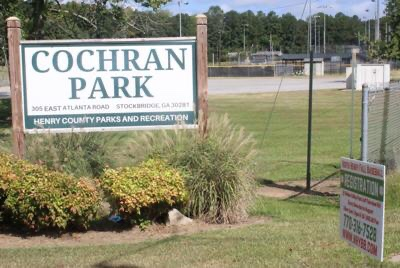 Photo of Cochran Park entrance (Henry Herald photo)