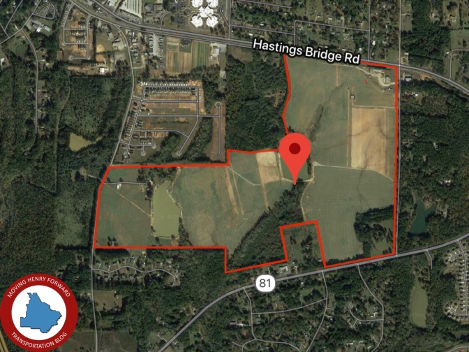 Map showing estimated location of Garden Lakes development with blog logo added (staff photo)