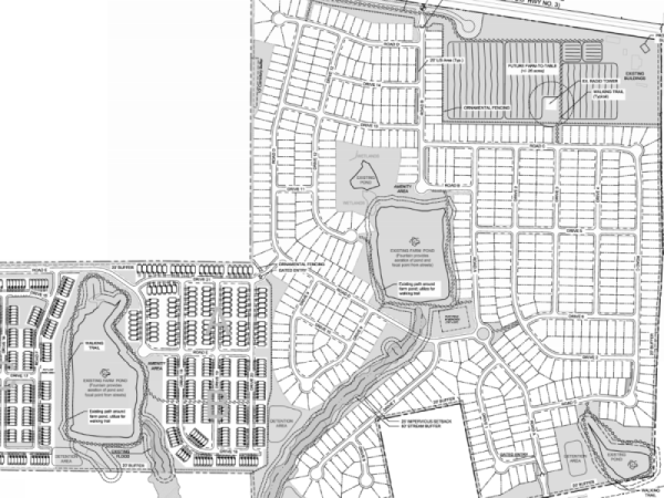 Site plan for Garden Lakes development (Falcon Design photo)
