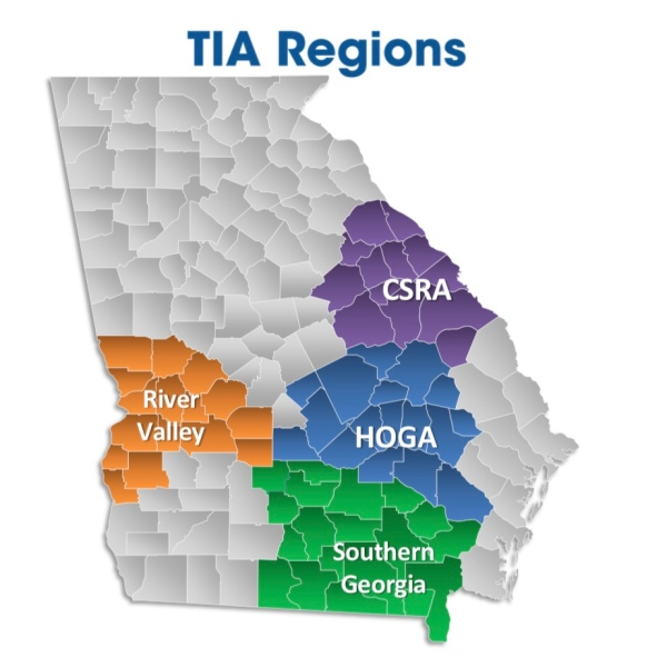 Map showing regions of Georgia where a regional transportation SPLOST is in effect (Georgia DOT photo)