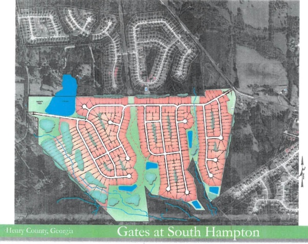 Site plan for proposed Gates at South Hampton development (HP Henry, LLC photo)