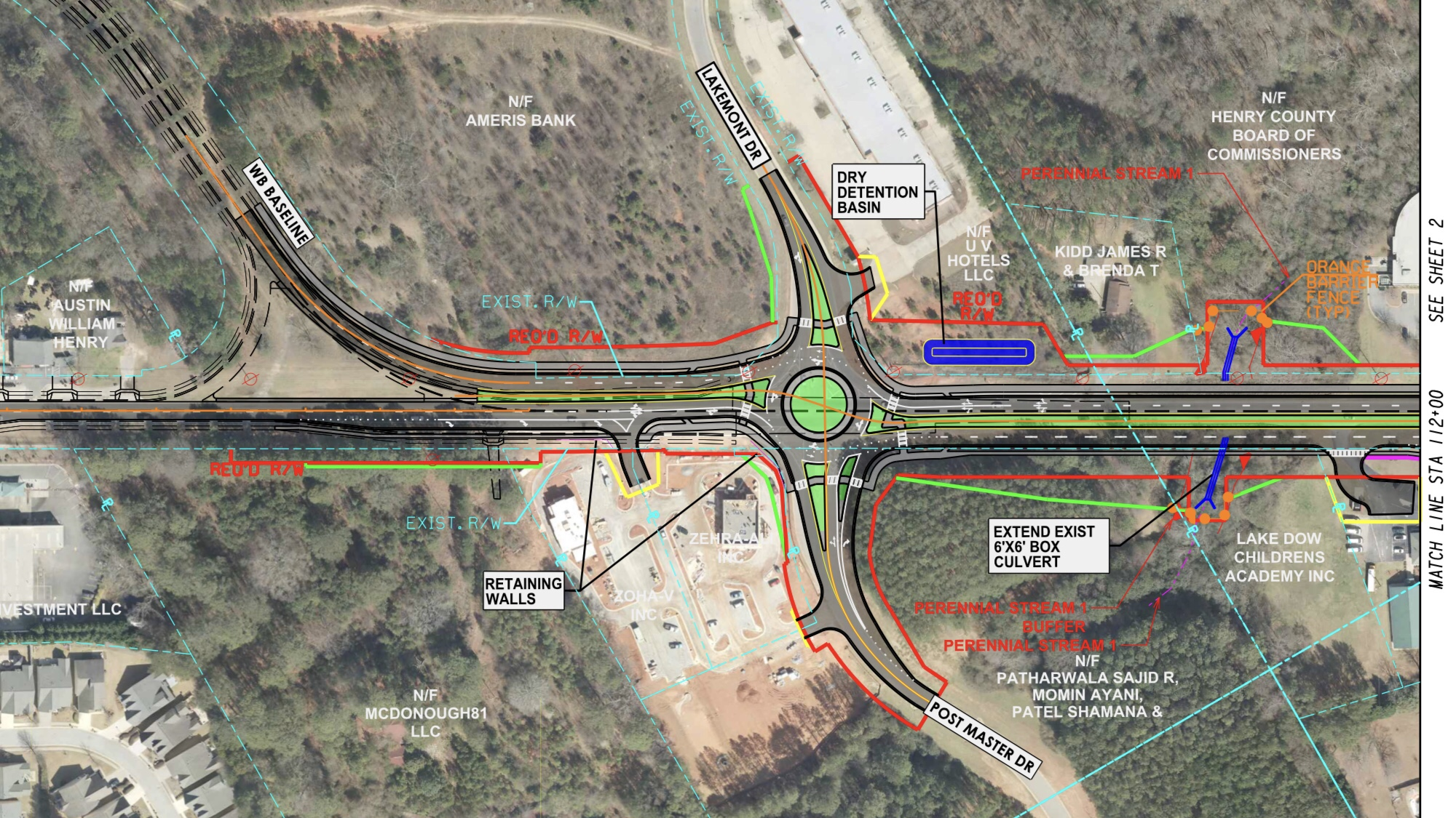 Concept layout for state route 81 at Postmaster Drive (Georgia DOT photo)