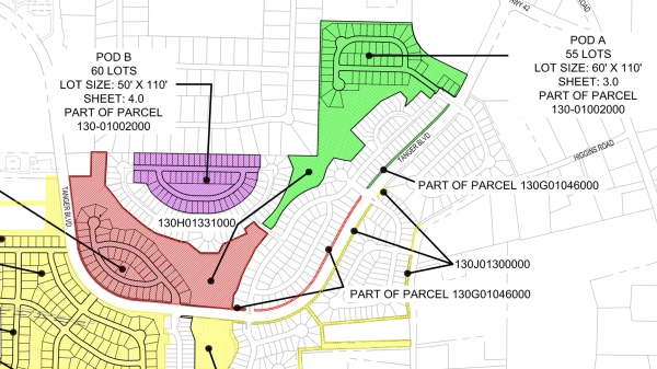 Exhibit map from 2018 zoning amendment for Locust Grove Station (HP Henry LLC photo)