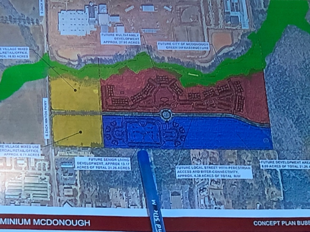 Concept site plan for McDonough Leased Housing Associates (Kimley-Horn photo)