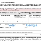 All Georgia active voters to be mailed an absentee ballot application