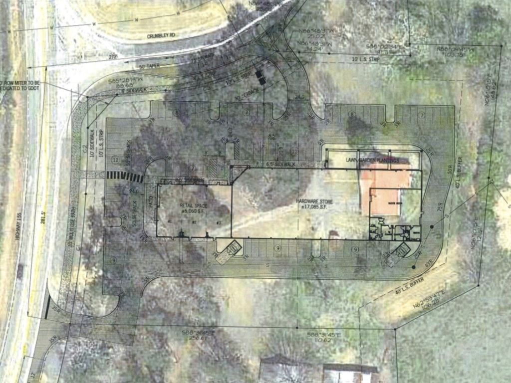 Ace Hardware concept site plan (Land Engineering photo)