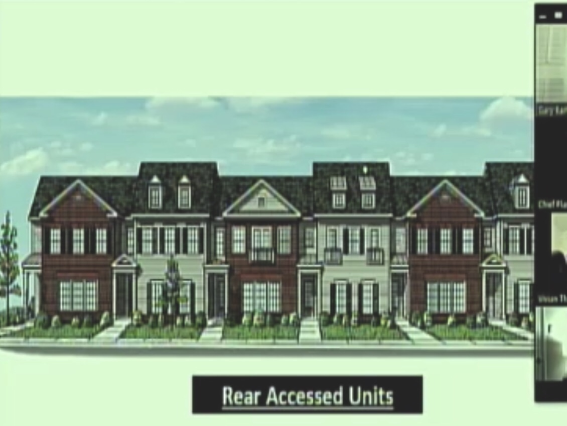 Concept elevation for East Lake at Springdale townhomes (Moore Bass Consulting photo)