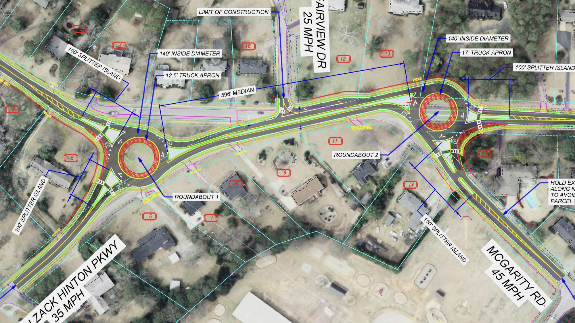 Concept layout for state route 20 dual roundabouts (Georgia DOT photo)