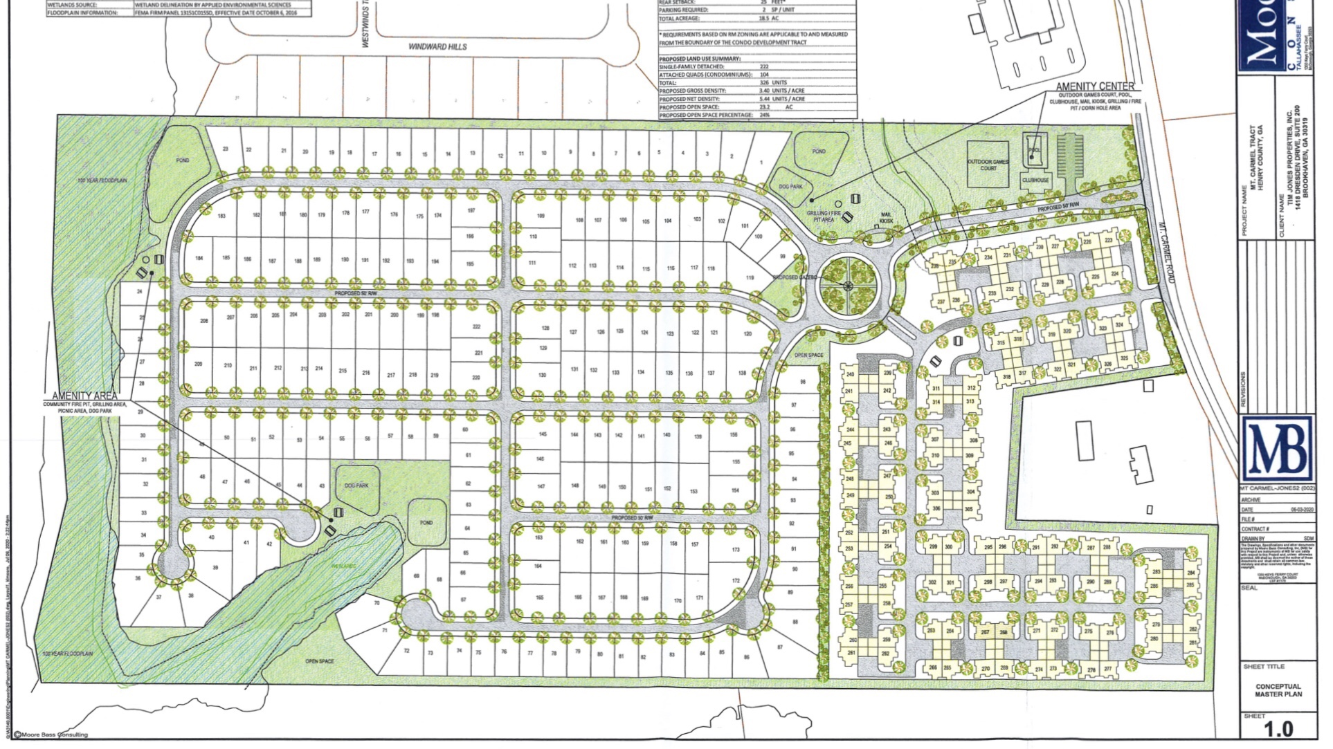 Concept layout for Mt Carmel Road development (Moore Bass Consulting photo)
