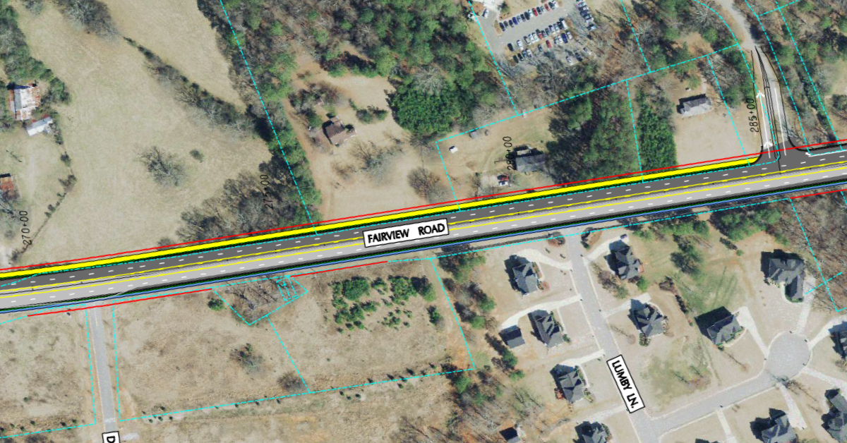 Photo of Fairview Road widening concept from 2011 (Henry County photo)